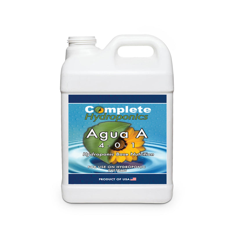Complete Hydroponics | Agua A | 4-0-1 | Hydroponic Base Nutrition | For use on hydroponic systems | Product of USA