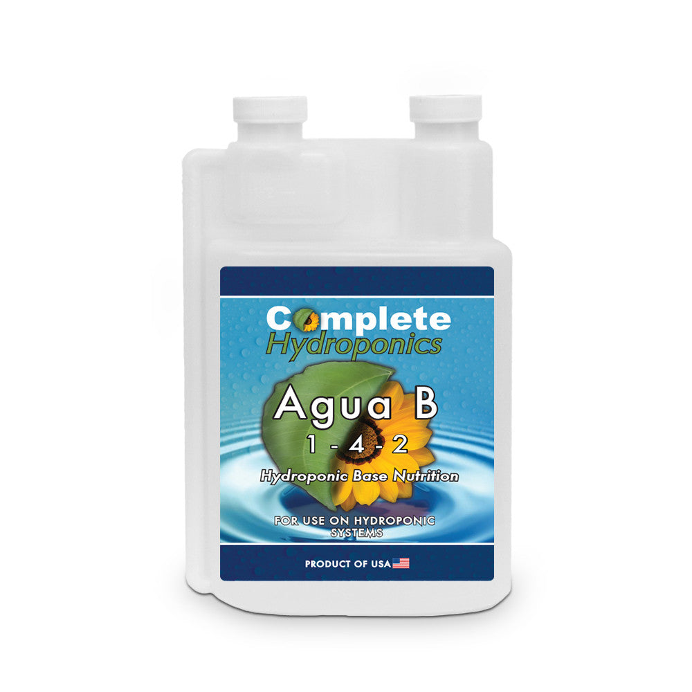 Complete Hydroponics | Agua B | 1-4-2 | Hydroponic Base Nutrition | For use on hydroponic systems | Product of USA