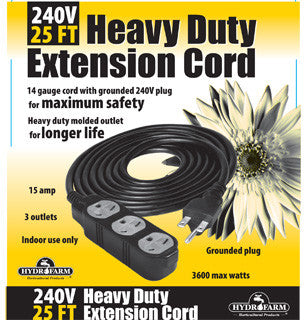 Extension Cord, 240v 25ft