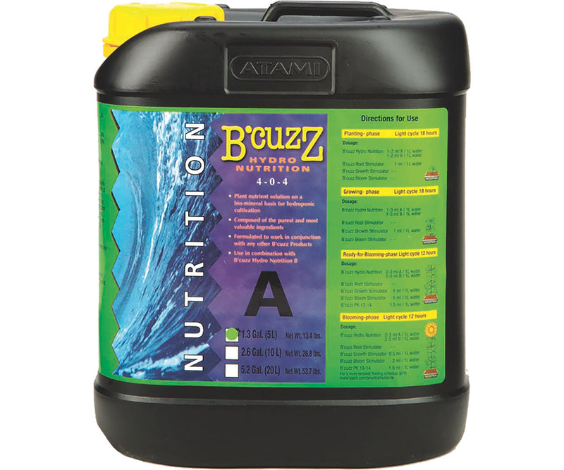 B'Cuzz Hydro Nutrition Component A, 5 lt