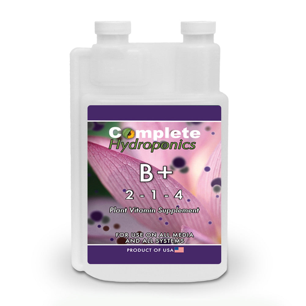 Complete Hydroponics | B+ | 2-1-4 | Plant Vitamin Supplement | For Use on All Media and All Systems | Product of USA