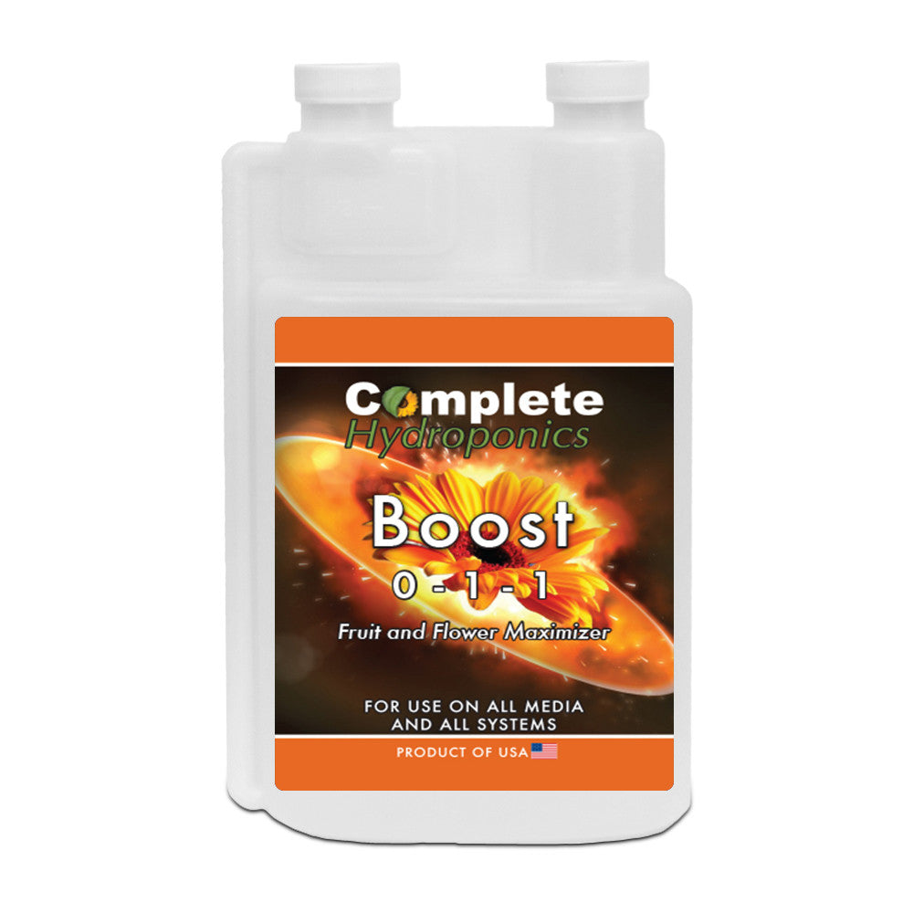Complete Hydroponics | Boost | 0-1-1 | Fruit and Flower Maximizer | For use on all media and all systems | Product of USA