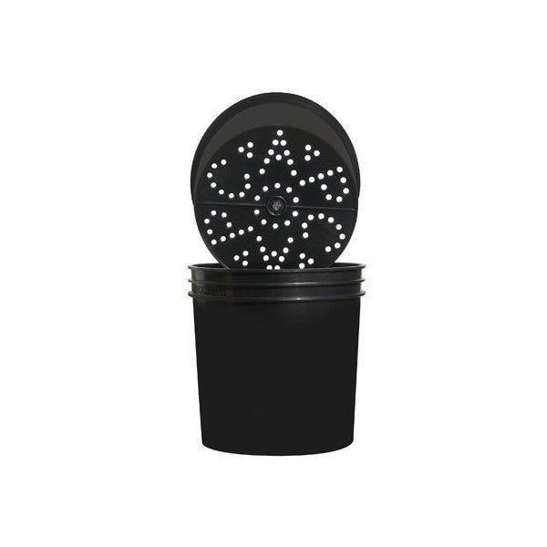 Ebb & Grow Outer Buckets Blk2 Gal Btm Hole