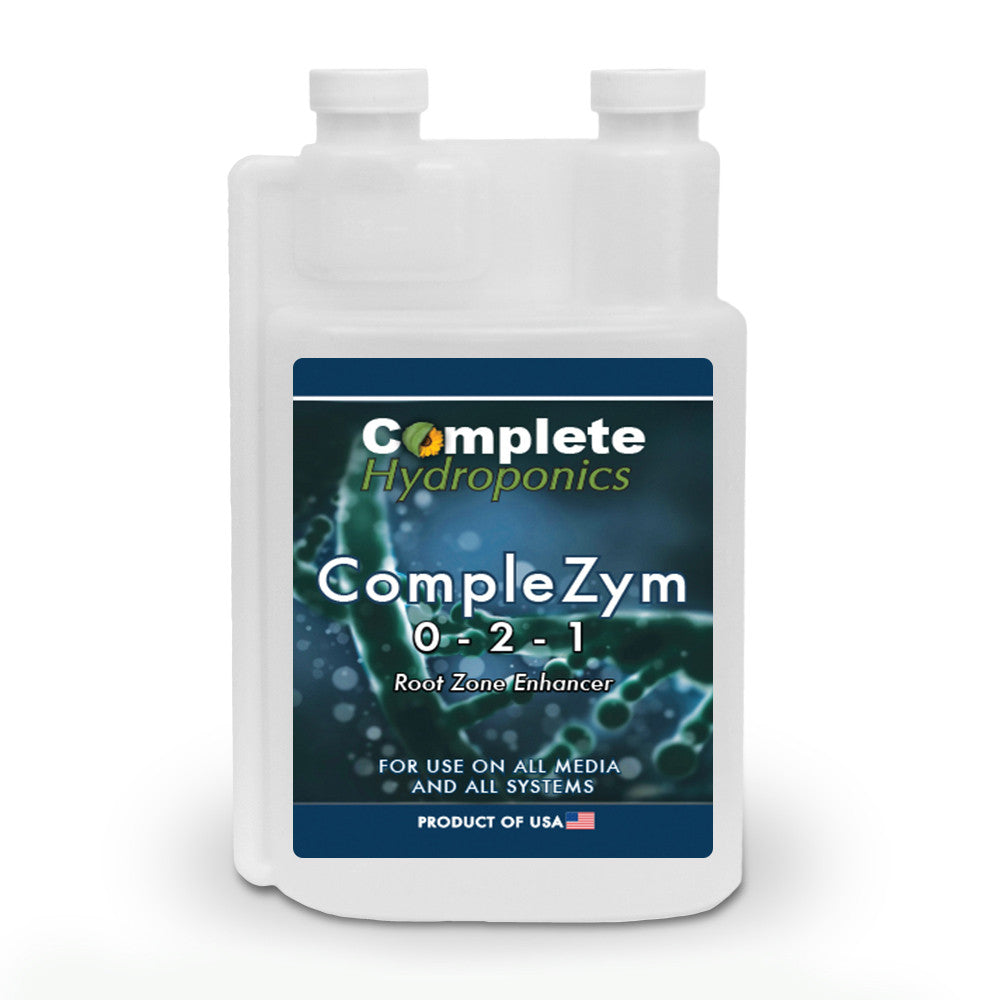 Complete Hydroponics CompleZym 0-2-1 Root Zone Enhancer For Use on All Media and All Systems Product of USA