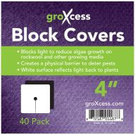 "GroXcess Block Cover 4"", 40 Pack"