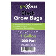 GroXcess Black Grow Bags, gal, 1000 Pack