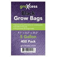 GroXcess Black Grow Bags, 5 gal, 400 Pack