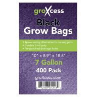 GroXcess Black Grow Bags, 7 gal, 400 Pack