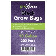 GroXcess Black Grow Bags, 10 gal, 200 Pack