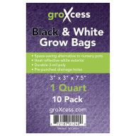 GroXcess Black & White Grow Bags, qt, 10 Pack