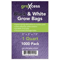 GroXcess Black & White Grow Bags, qt, 1000 Pack