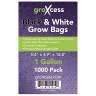 GroXcess Black & White Grow Bags, gal, 1000 Pack