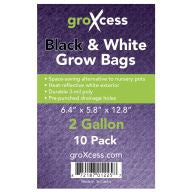 GroXcess Black & White Grow Bags, 2 gal, 10 Pack