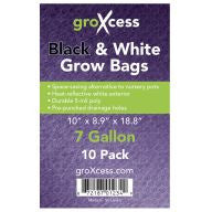 GroXcess Black & White Grow Bags, 7 gal, 10 Pack
