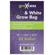 GroXcess Black & White Grow Bags, 20 gal