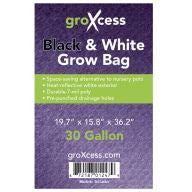 GroXcess Black & White Grow Bags, 30 gal