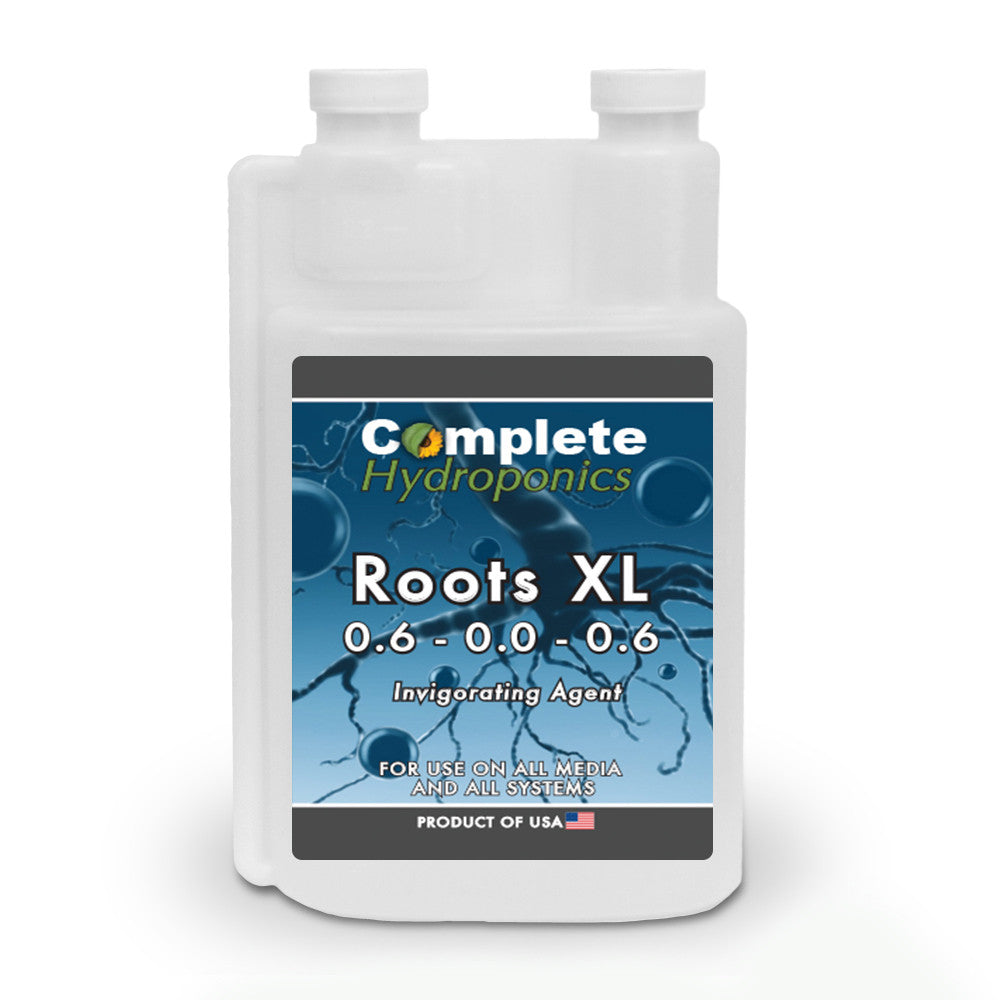 Complete Hydroponics | Roots XL | 0.6-0.0-0.6 | Invigorating Agent | For use on all media and all systems | Product of USA