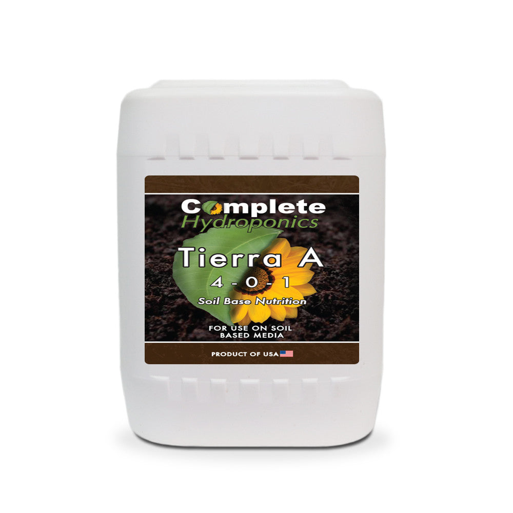 Complete Hydroponics | Tierra A | 4-0-1 | Soil Base Nutrition | For use on soil based media | Product of USA
