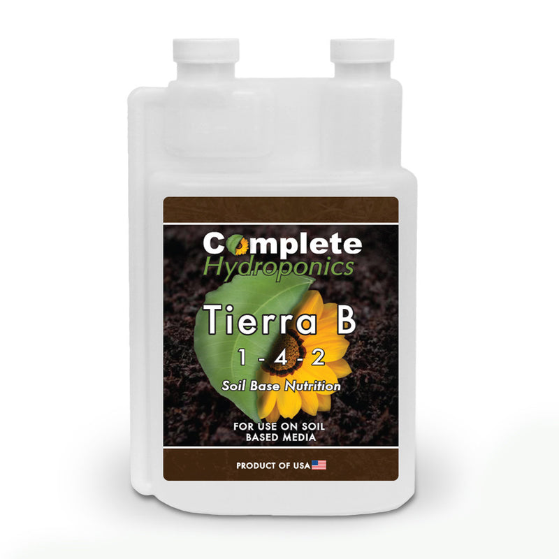 Complete Hydroponics | Tierra B | 1-4-2 | Soil Base Nutrition | For use on soil based media | Product of USA