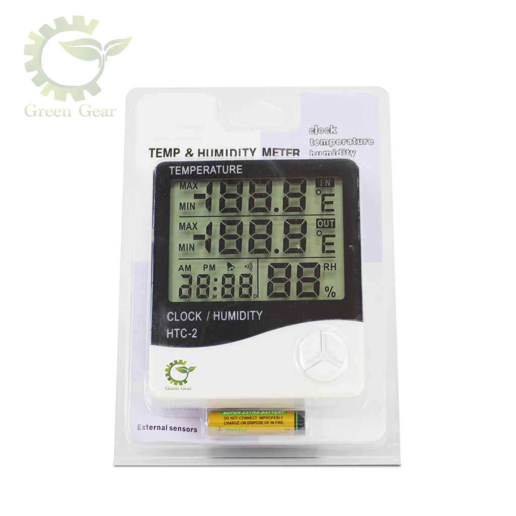 Digital Hygrometer - Temp & Humidity Meter - green gear innovations