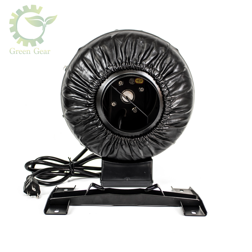 Inline Fan - perfect for complete hydroponic system - green gear