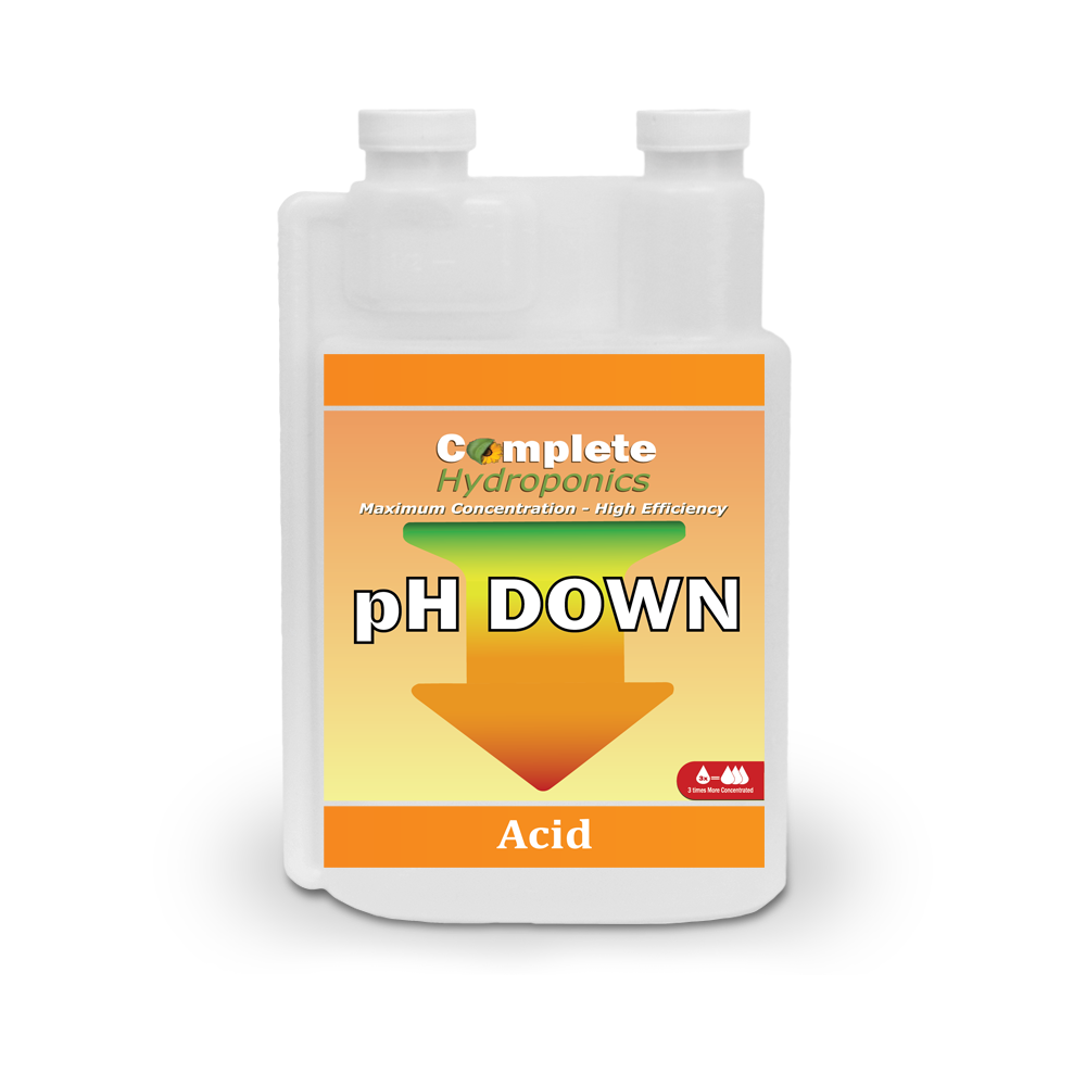 Complete Hydroponics | Maximum Concentration - High Efficiency | pH Down| Acid