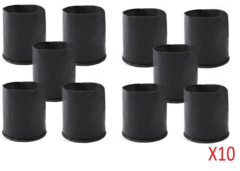 Green Gear 3 Gallon 10 Packs Fabric Aeration Plant Pots Grow Bags