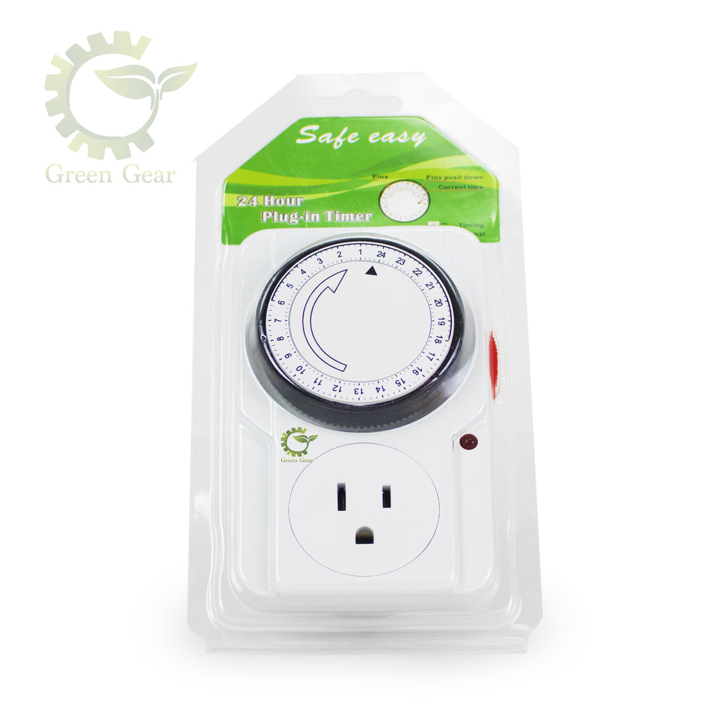 24 Hrs Mechanical Timer - for hydroponic systems - Green Gear innovations