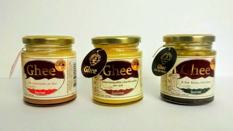 "Pack de 3 frascos - Ghee Tres Sabores ""Mother Earth´s"" 200gr."