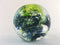 Dark Blue-Green Blown Glass Paperweight