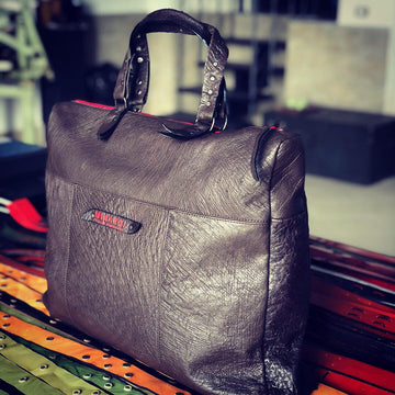 Real Ostrich leather business bag