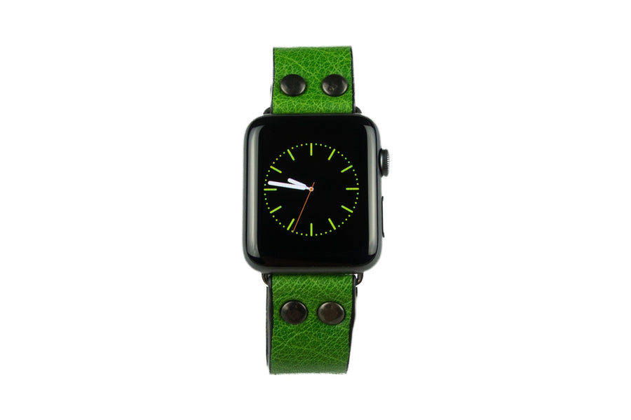Per Apple Watch cinturino pelle verde acido