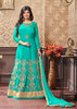 Green Silk Cotton Anarkali