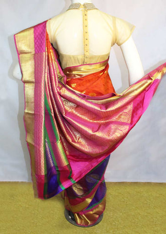 Multi Color Kanchipuram Silk Saree-ER1266