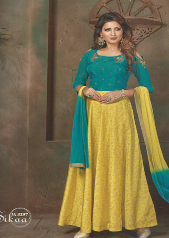 Peacock Green With Yellow Readymade Salwar