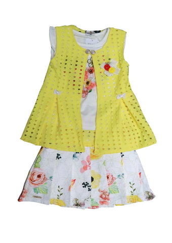 Yellow with White Skirt and Top - GE38762 (Age 5 Years )