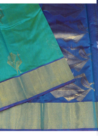 Green Pure Silk cotton Saree