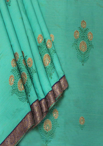 Green Semi Raw Saree - FL39539