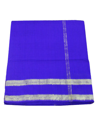 Blue cotton nine yards Saree