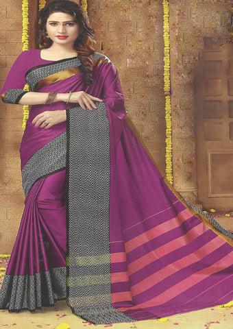 Majenta Color Aara cotton Saree
