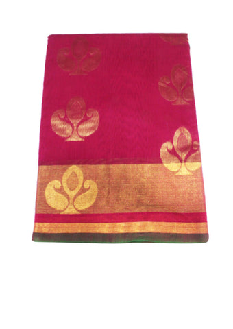 Pink Pure Silk cotton Saree