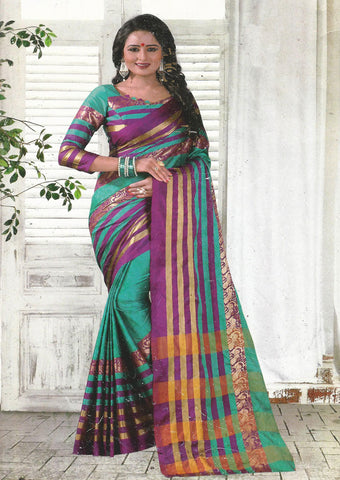 Multi Color Aara cotton Saree-FB8628