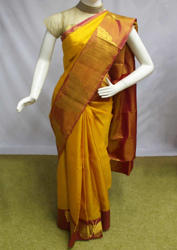 Yellow Kanchipuram Silk Saree-ET15226