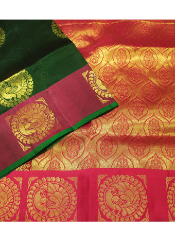 Green Light weight Kanchipuram Silk Saree - EU332