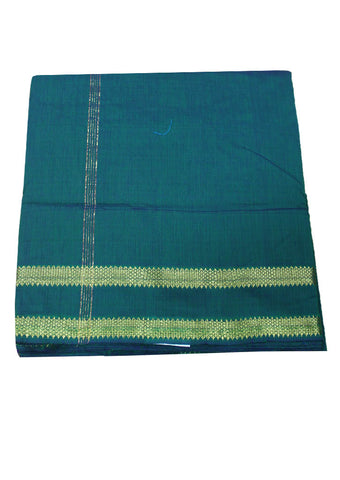 Dark green cotton nine yards Saree