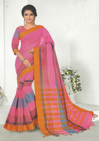 Pink Pure Cotton Saree - EX5447