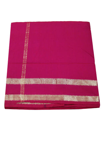 Pink cotton nine yards Saree