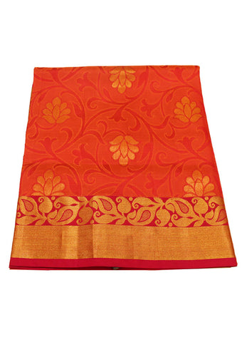 Red with Orange Light weight Kanchipuram Silk Saree