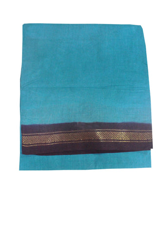 Sky Blue Sungudi Cotton nine yards Saree