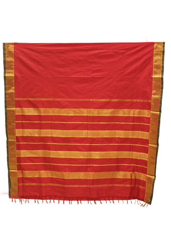 Red color 9.5 Yards Silk Saree - FF13573